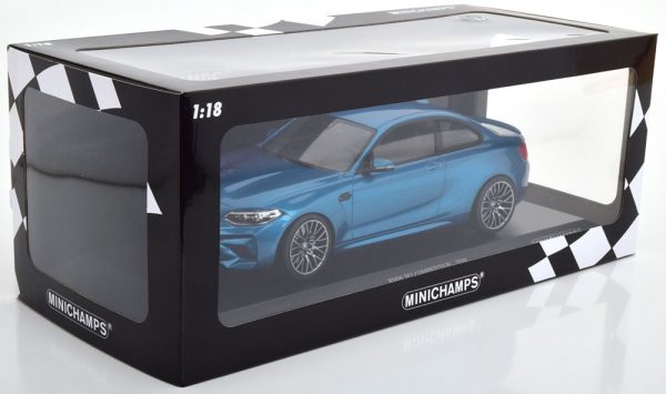 BMW M2 Competition 2019 Blauw Metallic 1-18 Minichamps Limited 504 Pieces