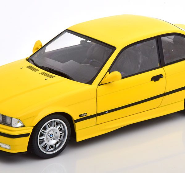 BMW M3 ( E36 ) Coupe 1996 Geel 1-18 Solido ( Met Decals )