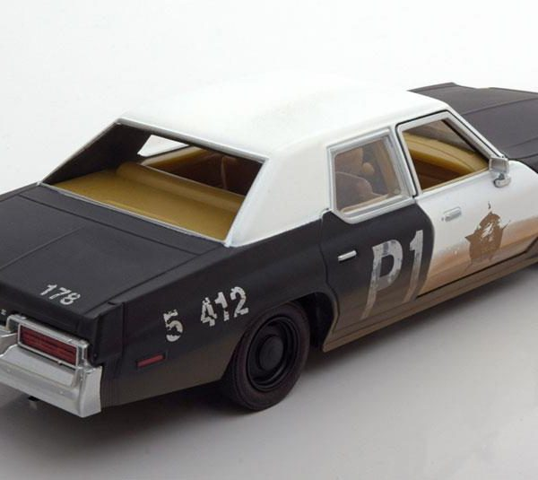 """Dodge Monaco Bluesmobile """"Blues Brothers"""" 1974 Zwart / Wit 1-24 Greenlight Collectibles"""