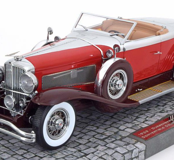 Deusenberg Model J.Torpedo Disappearing Top Convertible Coupe 1929 1-18 Rood Minichamps Blackhawk Museum Collection Edition 1 Limited 999 pcs.