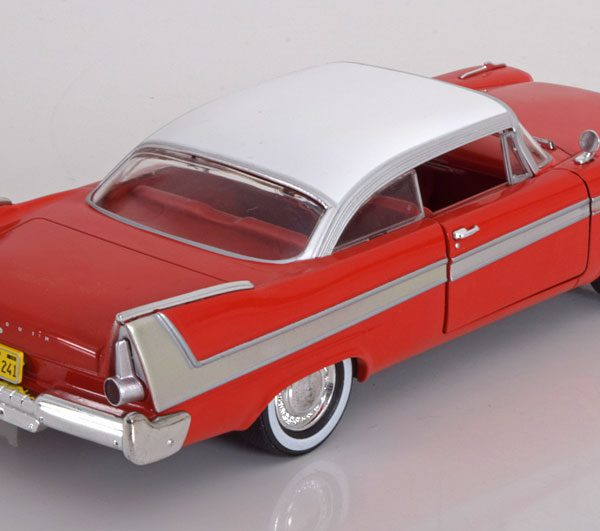 """Plymouth Fury 1958 """"Christine"""" Rood / Wit 1-24 Greenlight Collectibles"""