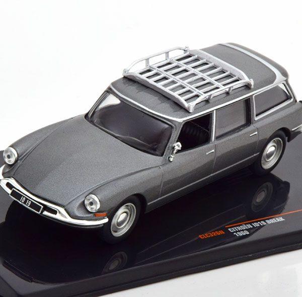 Citroen ID 19 Break 1960 Grijs Metallic 1-43 Ixo Models
