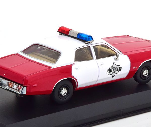 """Dodge Monaco """"Finchburg County Sheriff"""" 1977 Rood / Wit 1-43 Greenlight Collectibles"""