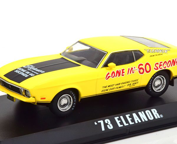 """Ford Mustang Mach 1 """"Eleanor"""" Gone in 60 Seconds Geel 1-43 Greenlight Collectibles"""
