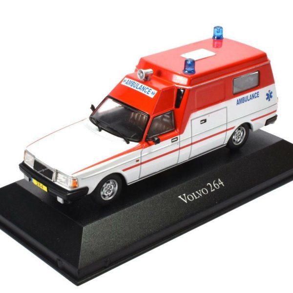 Volvo 264 Ambulance Nederland 1-43 Rood/Wit Atlas