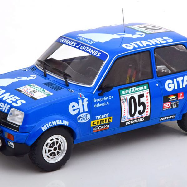 Renault 5 Alpine No.05 Rally Bandama 1978 Frequelin/Delaval Blauw 1-18 Ixo Models