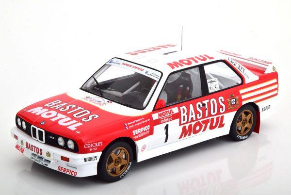 BMW M3 E30 No.1, Rally Tour de Corse 1988 Rood / Wit B.Beguin/ J.J.Lenne 1-18 Ixo Models