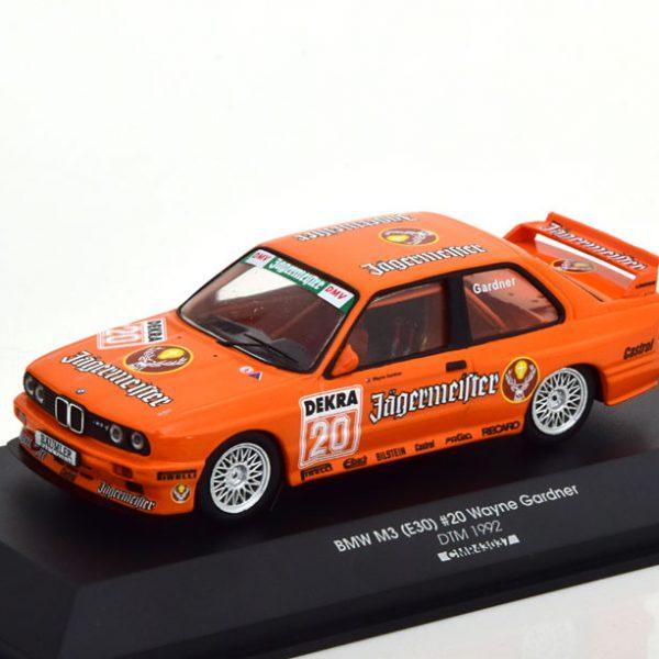 """BMW M3 E30 Evolution No.20, DTM 1992 """"Jägermeister"""" Gardner Oranje 1-43 CMR Models"""
