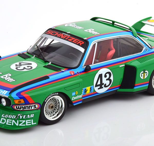 "BMW 3.5 CSL No.43, 24Hrs Le Mans 1976 ""Gösser Beer"" Quester /Krebs/Peltier Groen 1-18 Minichamps Limited 300 Pieces"
