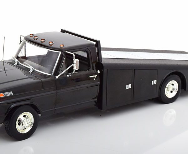 Ford F350 Ramp Truck 1970 Zwart 1-18 ACME Limited 1148 Pieces