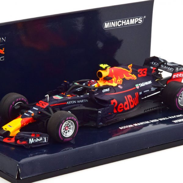 Aston Martin Red Bull Racing RB14 Winner GP Mexico 2018 Max Verstappen 1-43 Minichamps Limited 504 Pieces