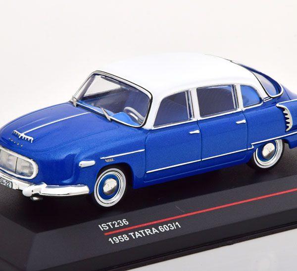Tatra 603/1 1958 Blauw / Wit 1-43 Ist Models