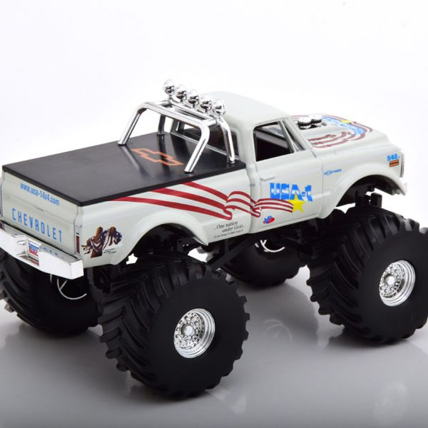 Chevrolet K-10 USA-1 1970 Monstertruck Wit 1-43 Greenlight Collectibles