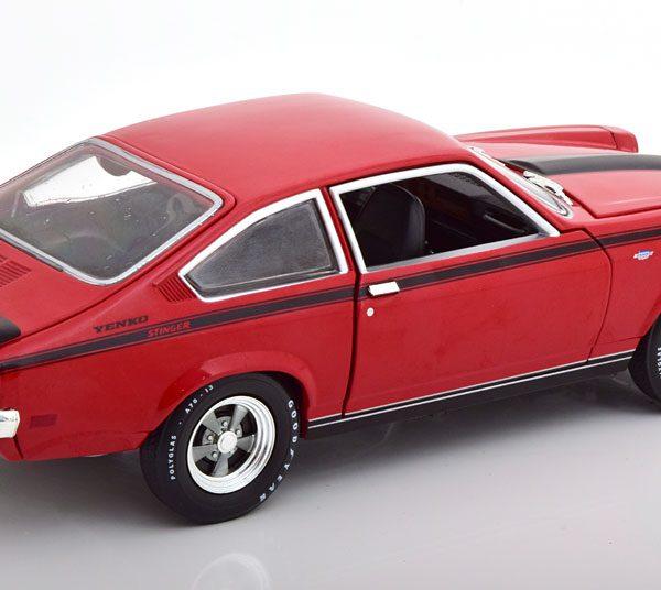 Chevrolet Vega Yenko Stinger 1972 Rood / Zwart 1-18 Ertl Autoworld Limited 1002 Pieces