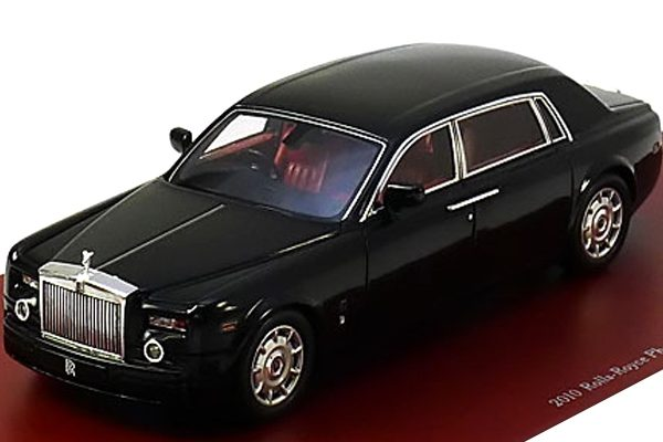 Rolls Royce Phantom LWB 2010 1-43 Zwart True Scale Miniatures