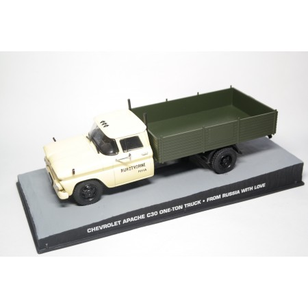 """Chevrolet Apache C30 One-Ton Truck James Bond """"From Russia with Love"""" 1-43 Altaya James Bond 007 Collection"""