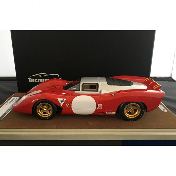 Ferrari 312P Coupe 1969 Test Monza ( Aluminium Roof Top ) Rood 1-18 Tecnomodel Limited 60 Pieces