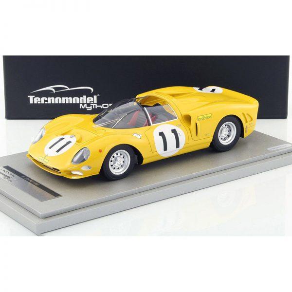 Ferrari 365 P2 Monza 1966 Nr#11 1000 Km Ecurie Francorchamps L.Bianchi / J.Beurly's Geel 1-18 Tecnomodel Limited 60 Pieces