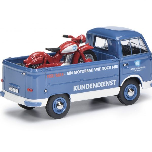 Ford Transit FK 1000 + NSU Max Motor Blauw 1-43 Schuco - 1:43 -Limited 1000 Pieces