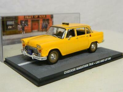 "Checker Marathon Taxi James Bond ""Live and Let Die"" 1-43 Altaya James Bond 007 Collection"