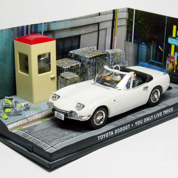 "Toyota 2000GT Cabriolet James Bond ""You Only Live Twice"" Wit 1-43 Altaya James Bond 007 Collection"