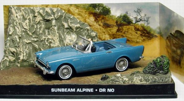 "Sunbeam Alpine James Bond ""Dr No"" Blauw 1-43 Altaya James Bond 007 Collection"