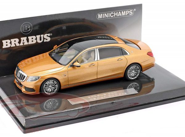 Maybach Brabus 900 based on Mercedes-Benz Maybach S600 2016 Goud Metallic 1:43 Minichamps Limited 300 Pieces