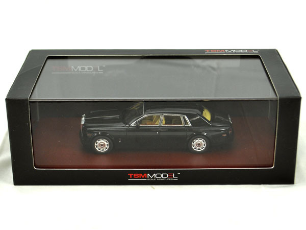 Rolls Royce Phantom 2009 1-43 Zwart True Scale Miniatures