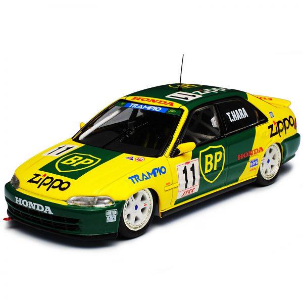 "Honda Civic EG9 JTCC 1994 Nr# 11 ""BP"" Hara Geel/Groen 1-43 Ixo Models"