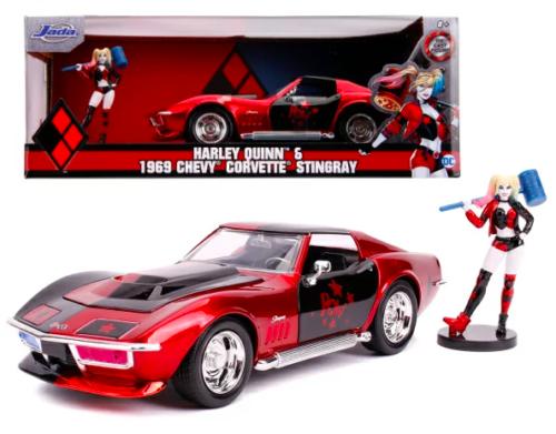 Harley Quinn & 1969 Chevrolet Corvette Stingray 1-24 Jada Toys DC Comics