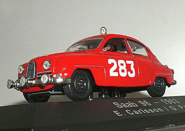 Saab 96-1963 Rally Monte Carlo Nr# 283 Rood E.Carlsson / G.Palm 1-43 Atlas