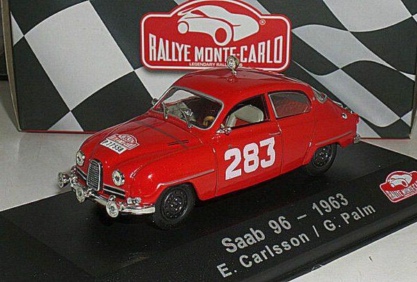 Saab 95 #53 4th Rallye Monte Carlo 1961 Carlsson Svensson 1:43 Atlas