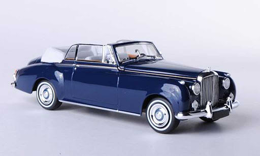 Bentley S2 Cabriolet 1960 1-43 Blauw Minichamps Limited 2000 pcs.