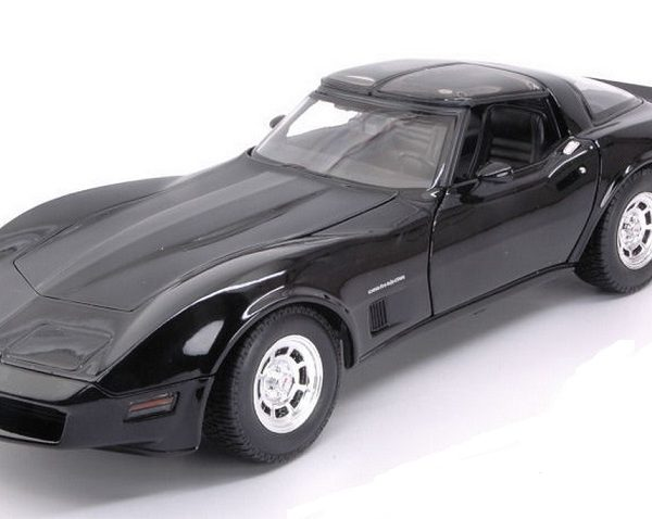 Chevrolet Corvette 1982 Zwart 1-18 Welly