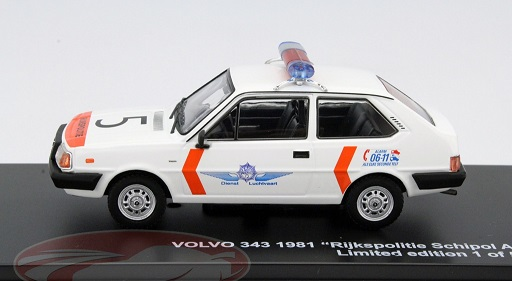 "Volvo 343 1981 ""Rijkspolite Schiphol Airport"" 1-43 Triple 9 Collection Limited 504 Pieces"