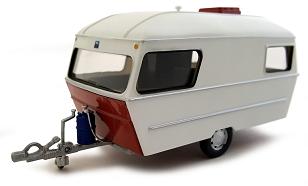 Caravan IV 1990 Wit / Rood 1-43 Cararama
