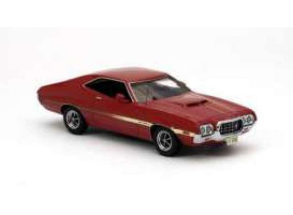 Ford Gran Torino Coupe Sport 1972 Rood 1-43 Neo Scale models