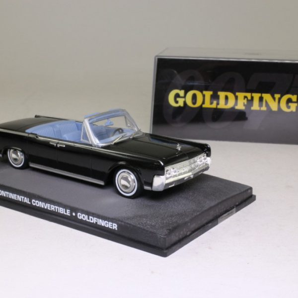"Lincoln Continental Convertible ""Goldfinger"" Zwart 1-43 Altaya James Bond 007 Collection"