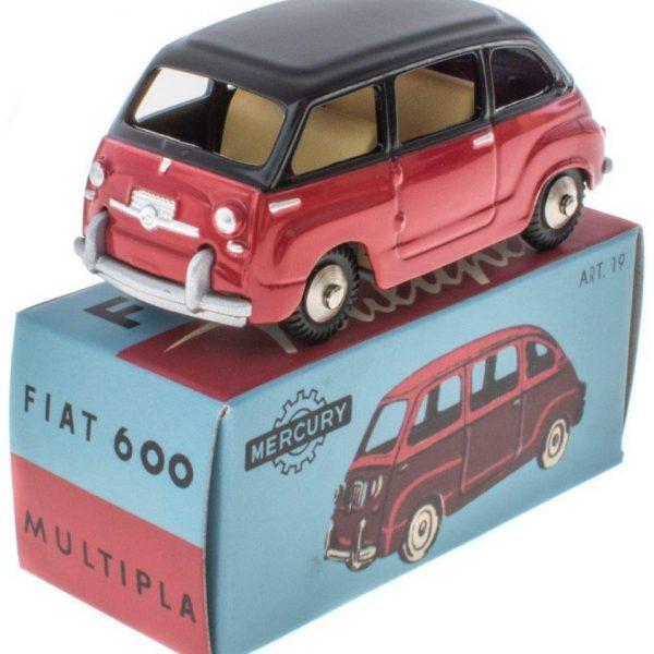 Fiat 600 Multipla Rood / Zwart 1-43 Mercury