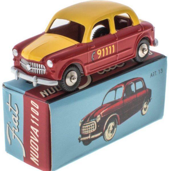 "Fiat Nuova 1100 ""Bern Taxi"" Rood / Geel 1-48 Mercury"