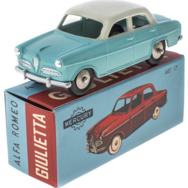 Alfa Romeo Giulietta Lichtblauw / Biege 1-48 Mercury