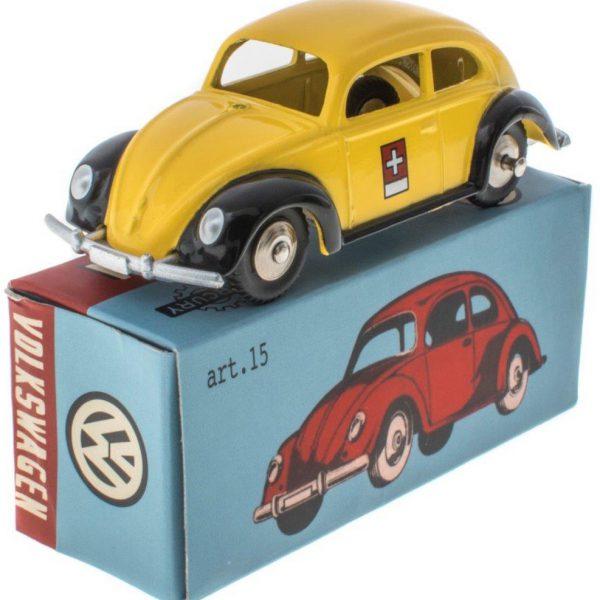 Volkswagen Kever Swiss Post Office Geel / Zwart 1-48 Mercury