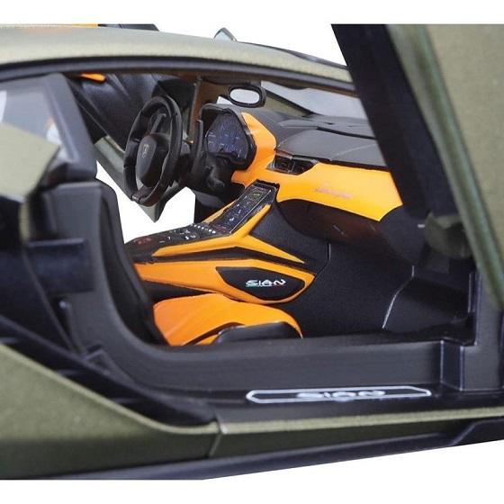 Lamborghini Sian FKP 37 2019 Groengoud Metallic 1-18 Burago