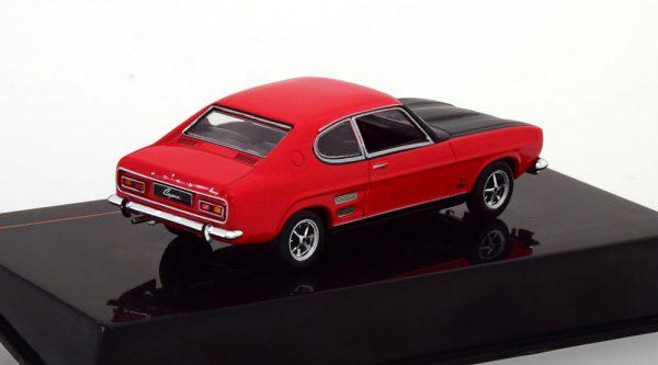 Ford Capri 1700 GT 1970 Rood / Zwart 1-43 Ixo Models