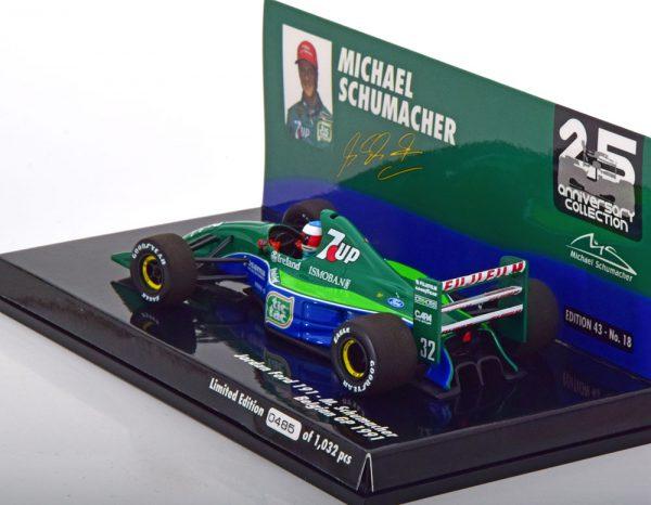 Jordan Ford 191 F1 M.Schumacher Belgian GP 1991 Minichamps 1-43 Limited 1032 Pieces