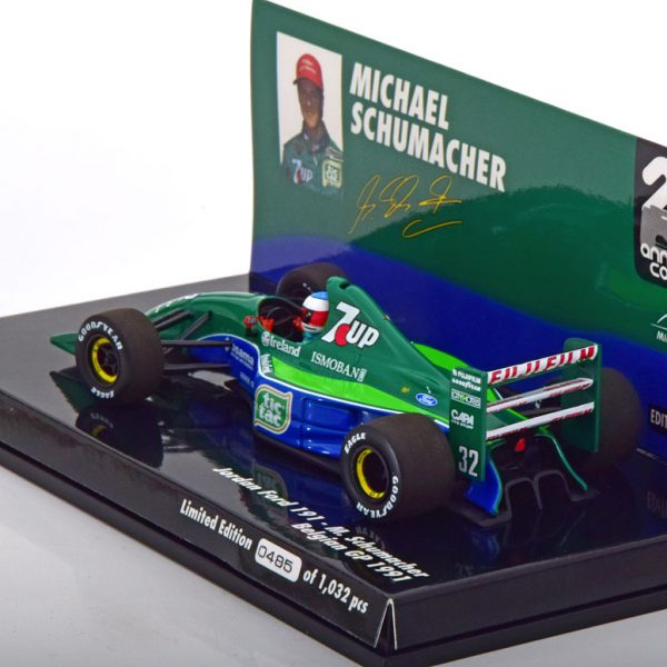 Jordan Ford 191 F1 M.Schumacher Belgian GP 1991 Minichamps 1-43 Limited 1032 Pieces