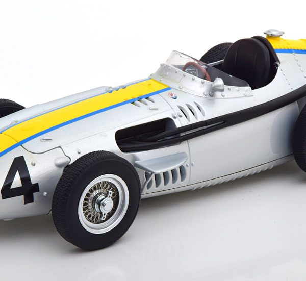 Maserati 250 F Nr# 24 GP Italian 1957 J.Bonnier Zilver / Geel 1-18 CMR Models