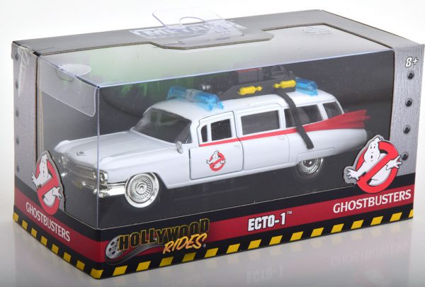 """Cadillac Ecto 1 """"Ghostbusters"""" 1959 Wit / Rood 1-32 Jada Toys"""