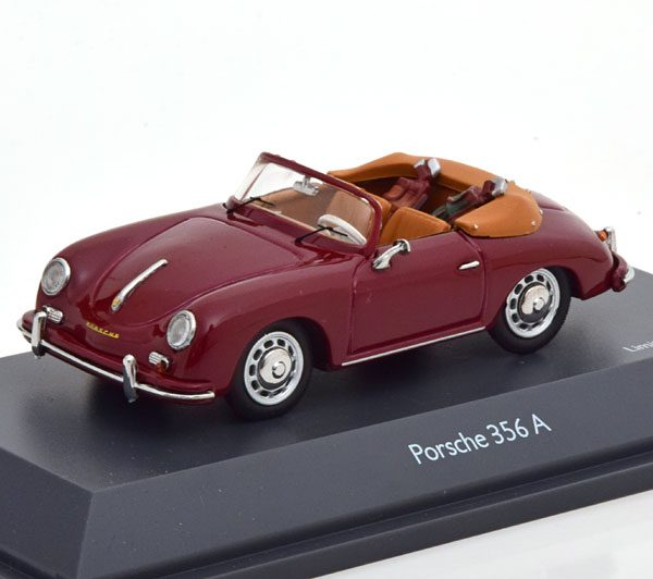 "Porsche 356 A Cabrio ""Golf"" Donkerrood 1-43 Schuco Limited 750 Pieces"