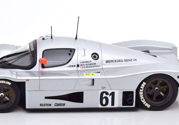 Mercedes-Sauber C9 No.61, 24h Le Mans 1989 Baldi/Acheson/Brancatelli 1-18 Minichamps Limited 402 Pieces